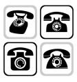 telephone collection vector image vector image