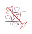 Tic tac toe hearts Happy valentines day vector image