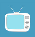 tv screen simple icon isolated household vector image vector image
