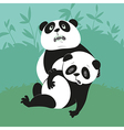 two giant pandas vector image
