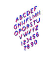 volume font tape linear thin contour letters vector image