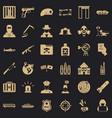 world antiterrorism icons set simple style vector image vector image