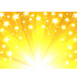 yellow background with stars vector image vector image