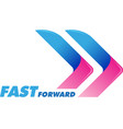 fast forward symbol vector image