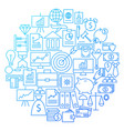 finance line icon circle design vector image