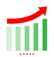 growing graph icon flat style vector image