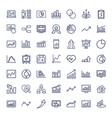 49 chart icons vector image vector image