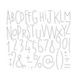 alphabet straight lines font vector image vector image