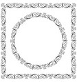 art forging curles elements ornate circle vector image
