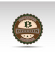 badge with bitcoin symbol vector image vector image