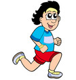 cartoon running man vector image