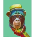 Chimpanzee polygonal eps 10 vector image vector image