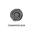 cinnamon bun roll glyph element or icon vector image vector image