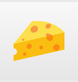 color cheese icon isolated on background modern f vector image
