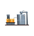 conveyor line for packaging juice production vector image vector image