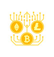 cryptocurrency icon vector image vector image