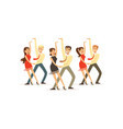 dancers of latin american dance vector image vector image