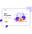 data encryption web page online banner vector image