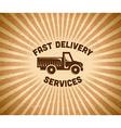 Delivery vintage label vector image vector image