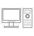 desktop computer icon image vector image