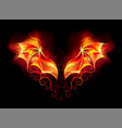 fire dragon wings vector image vector image