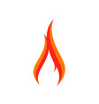 fire logo sign icon vector image