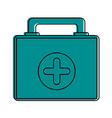 first aid suitcase vector image vector image