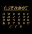 font alphabet gold vector image