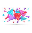 geometric shapes dynamic abstract background vector image