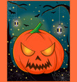 halloween pumpkins funny faces autumn holidays vector image