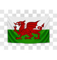 hanging flag wales wales national flag vector image vector image