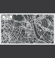 hanoi vietnam city map in retro style outline map vector image vector image