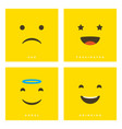 high quality cartoon set with sad fascinated vector image