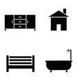 home icon set vector image vector image