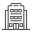hotel line icon architecture and travel building vector image vector image