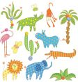 jungle set vector image