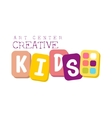 Kids Creative Class Template Promotional Logo With vector image vector image