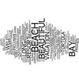 long bay beach resort and villas tortola text vector image vector image