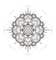 mandala in black and white vector image