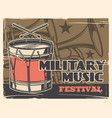 music festival military band army parade poster