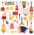 music instruments musical classical instruments vector image