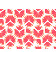 orange fruits slice and piece seamless pattern vector image
