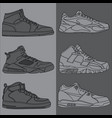 outline basketball shoes vector image vector image