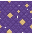 Purple Geometric Pattern with Stars vector image vector image