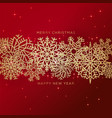 red christmas background with border made of vector image
