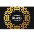 Round Luxurious Logo Frame Golden on Black vector image