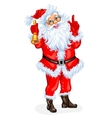 Santa Claus with a bell vector image vector image