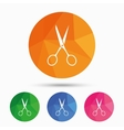 Scissors hairdresser sign icon Tailor symbol vector image vector image