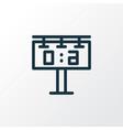 score display icon line symbol premium quality vector image vector image