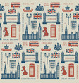 seamless background on theme uk and london vector image vector image